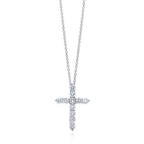 1ct Diamond Cross Pendant Necklace