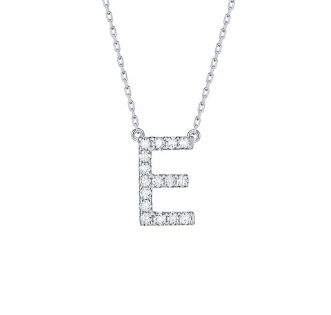 Diamond Initial Pendant Necklace