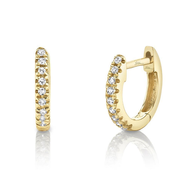 0.04CT DIAMOND HUGGIE EARRING
