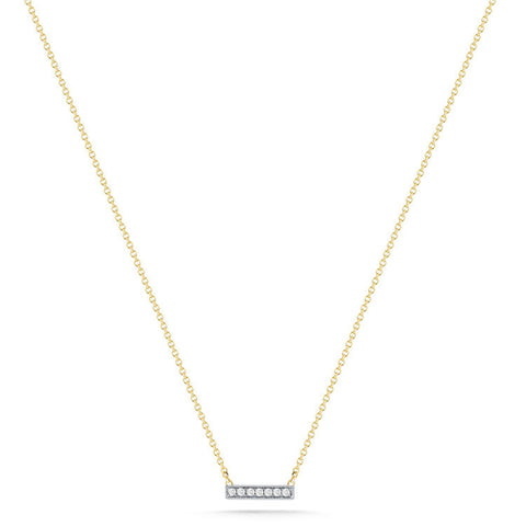 SYLVIE ROSE BAR NECKLACE YELLOW GOLD, , Necklace, Dana Rebecca Designs, D'Amore Jewelers  - 1