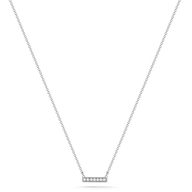 SYLVIE ROSE BAR NECKLACE WHITE GOLD, , Necklace, Dana Rebecca Designs, D'Amore Jewelers  - 1