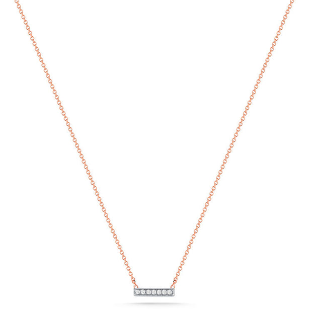 SYLVIE ROSE BAR NECKLACE ROSE GOLD, , Necklace, Dana Rebecca Designs, D'Amore Jewelers  - 1