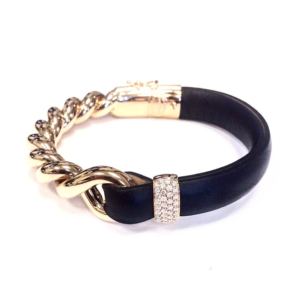 gold bracelet gemstone black italian jewellery online en