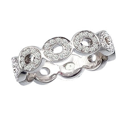 Signature Oval Band in White Gold with Diamonds, , Ring, Ivanka Trump, D'Amore Jewelers
