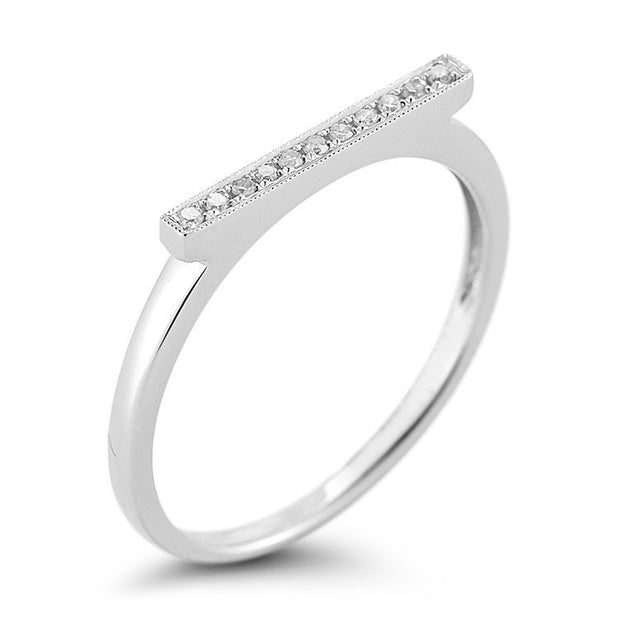 SYLVIE ROSE BAR RING WHITE GOLD, , Ring, Dana Rebecca Designs, D'Amore Jewelers
