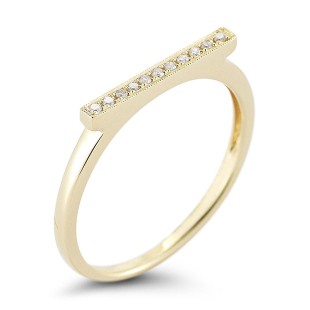 SYLVIE ROSE BAR RING YELLOW GOLD, , Ring, Dana Rebecca Designs, D'Amore Jewelers