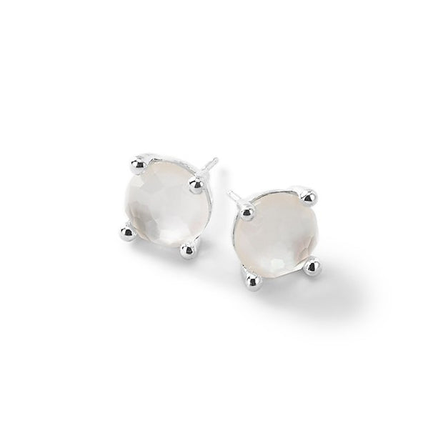 Single Stone Stud Earrings in Sterling Silver