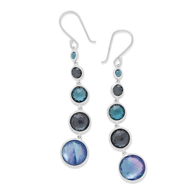 Lollitini 5-Stone Drop Earrings in Sterling Silver