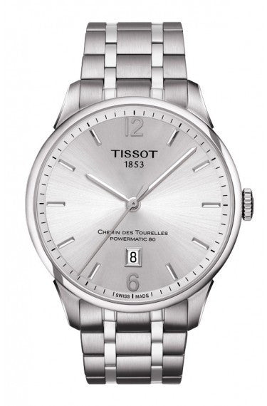 Tissot Chemin Des Tourelles Men's Automatic White Dial with Stainless Steel Bracelet, , Watches, Tissot, D'Amore Jewelers
