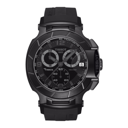 T-Race Men's Black Quartz Chronograph Sport Watch with Black Rubber Strap, , Watches, Tissot, D'Amore Jewelers