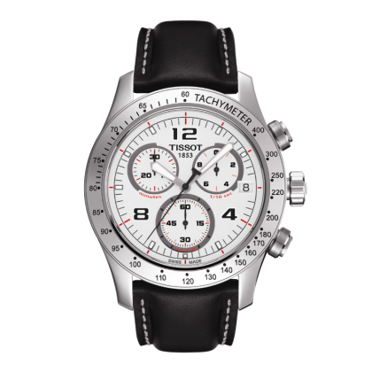 V8 Men's Silver Quartz Chronograph Sport Watch, , Watches, Tissot, D'Amore Jewelers