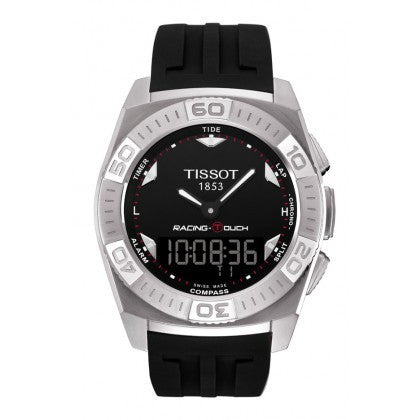 Racing-Touch Men's Black Quartz Classic Watch With White Accents, , Watches, Tissot, D'Amore Jewelers