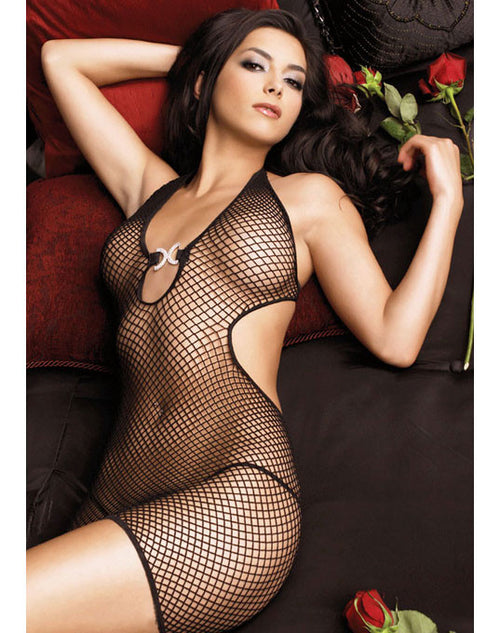 Halter Top Fishnet Dress