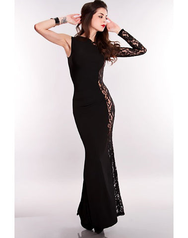 Glamour Sizzle Black Sequin Dress - Black