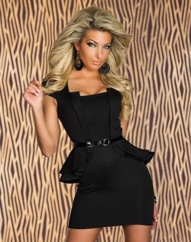 Long Sleeves Night Out Clubwear - Black