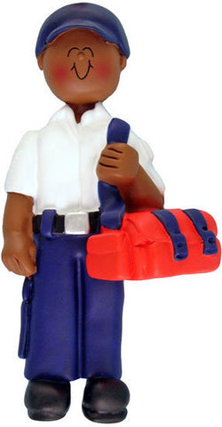 African-American Male EMT Christmas Ornament