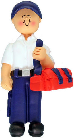 Male EMT Christmas Ornament