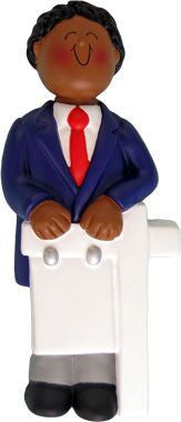 African-American Male Realtor Christmas Ornament