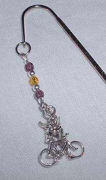 Bicycling Angel Bookmark