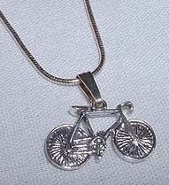 Road Bike with Spokes Necklace