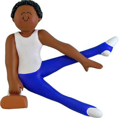 Male Gymnast Christmas Ornament