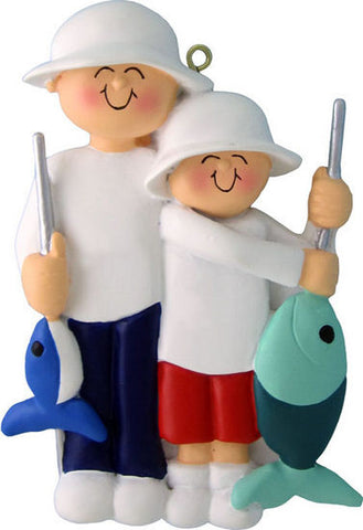 Fishing Friends Christmas Ornament (Male Child)