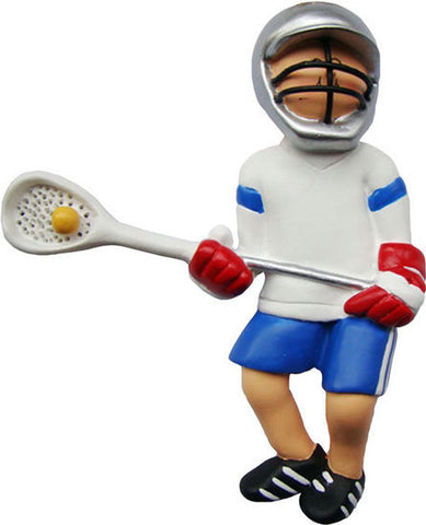 Male Lacrosse Player Christmas Ornament