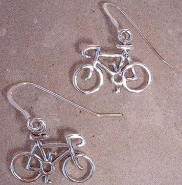 Road Bike Wire Earrings