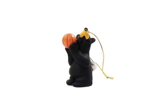Bear Playing Basketball Christmas Ornamenty