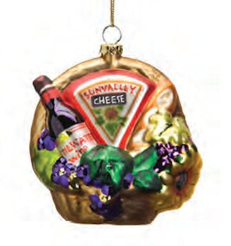 Wine and Cheese Christmas Ornament