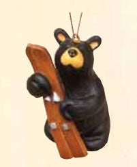 Bear with Ski Christmas Ornament