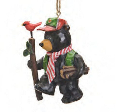 Bear Gathering Wood Christmas Ornament