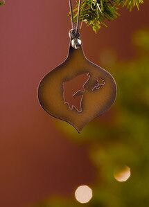 Metal Fish Christmas Ornament