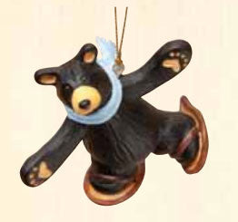 Bear on Snowshoes Christmas Ornament