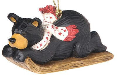 Bear on Sled Christmas Ornament