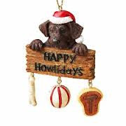 Happy Howlidays Dog Christmas Ornament