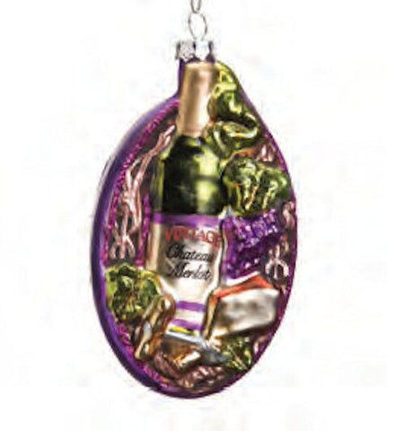 Wine and Fruit Christmas Ornament