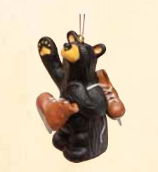 Bear with Ice Skates Christmas Ornament