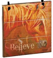 Believe Horse Christmas Ornament