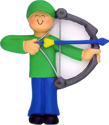 Male Archery Christmas Ornament