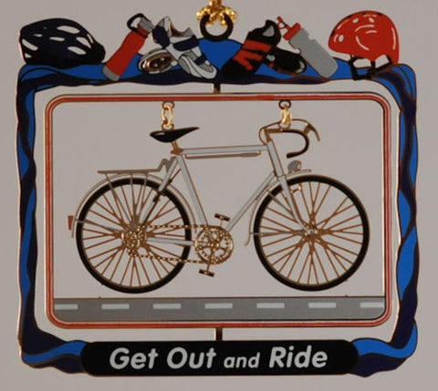 Get Out and Ride! Christmas Ornament