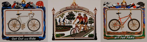 Collection of Cycling Christmas Ornaments