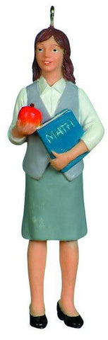 Female Teacher Christmas Ornament