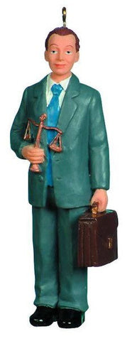 Male Lawyer Christmas Ornament