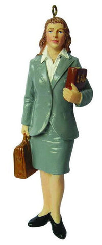 Female Lawyer Christmas Ornament