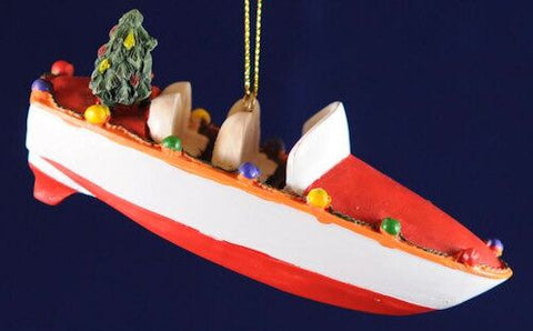 Jet Boat Christmas Ornament