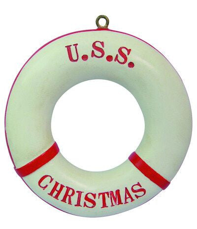 Life Preserver Christmas Ornament