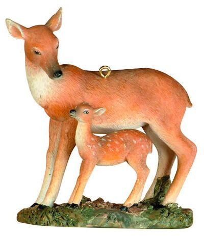 Deer with Baby Christmas Ornament