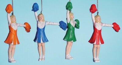 Cheerleaders Christmas Ornament (Set of 4)