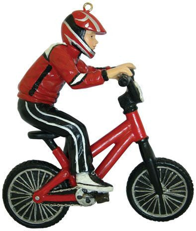 Bike Rider Christmas Ornament